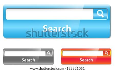 Search bar design - stock photo