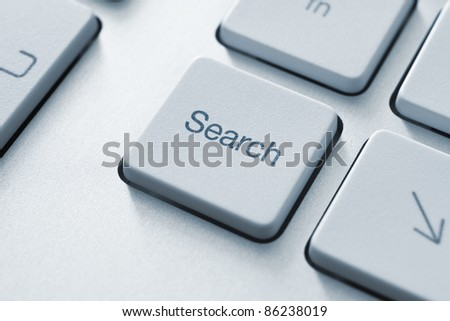 Search button on the keyboard. Toned Image.