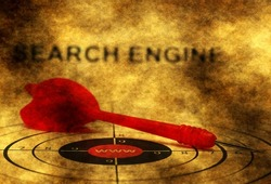 Search engine grunge concept