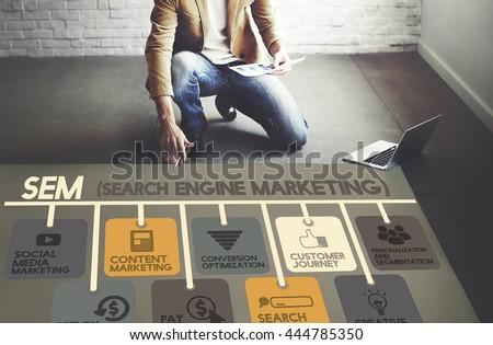 Search Engine Marketing Online Digital Concept