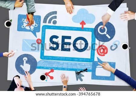Search Engine Optimization Business Data Digital Concept #394765678