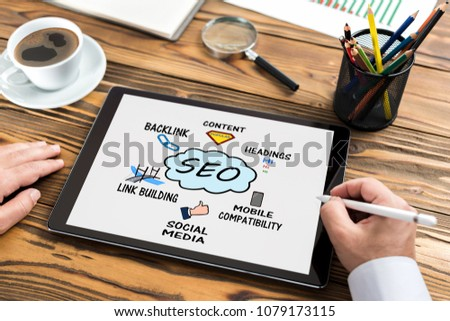Search Engine Optimization (SEO) Concept On Laptop Computer Screen