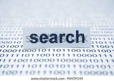 Search on binary data