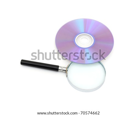 searching digital data concept. isolated on white