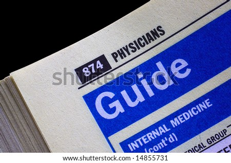 Searching directory pages for a qualified physician