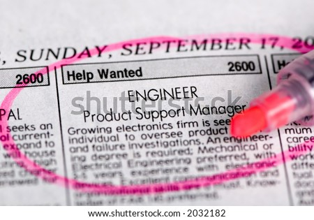 Searching for a new job in a local paper....maybe this one.