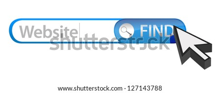 Searching for a website. Bad seo concept illustration design