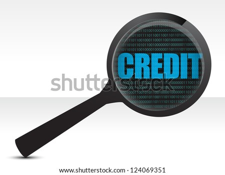 searching for credit illustration design over white