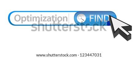 searching for Optimization illustration design over white - stock photo