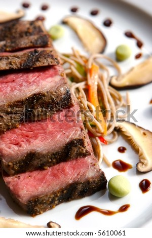 Seared Japanese Beef - stock photo