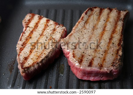Seared steaks