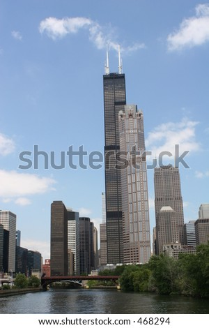 Sears Tower and other buildings in Chicago