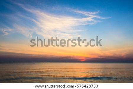 seascape and the skyline #575428753