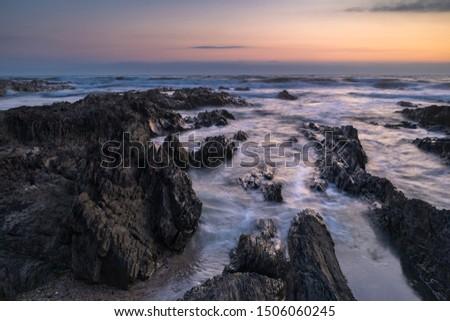 seascape at croyde bay, north devon