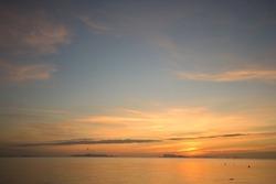 Seascape at dusk.