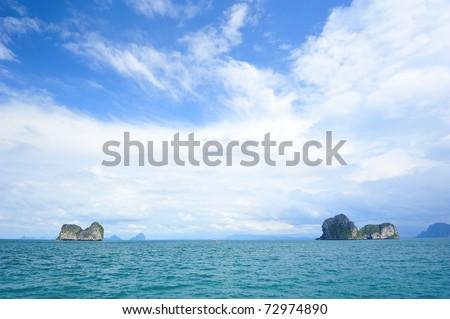 Seascape at Ngai island, Trang, South Thailand