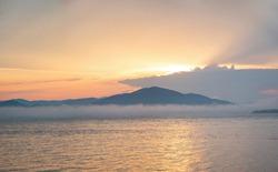 Seascape at Olga Bay at sunset