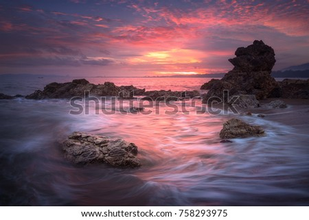 seascape at sunset taken with...