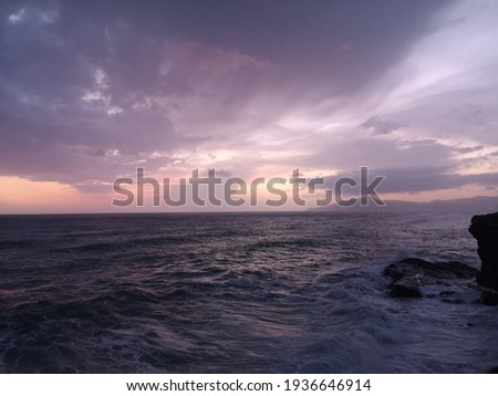 Seascape in Sestri Levante at sunset, Italy  Stock photo ©