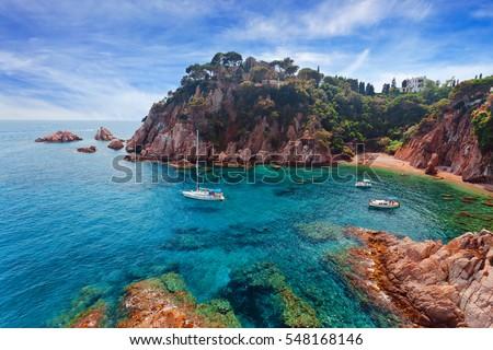 Seascape . Mediterranean coast of Spain, Costa Brava #548168146