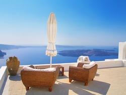 Seascape of Santorini