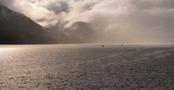 seascape shootings from the inside passage ferryboat, British Columbia, Canada