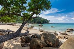 Seascape Small sandy beach,Khao Lak-Lam Ru National Park, Khao Lak, Phang Nga, Thailand