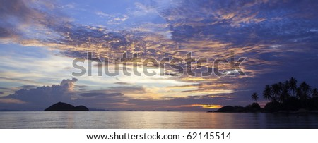 Seascape Sunset in the Golf of Thailand at Koh Phangan!