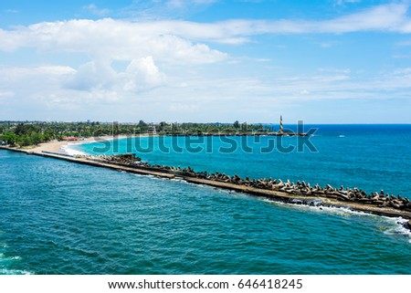 Seascape with breakwaters at Montego Bay #646418245