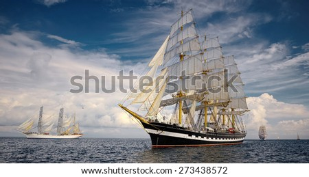 Seascape with sailing ships #273438572