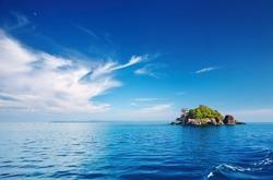 Seascape with small island, Trat archipelago, Thailand