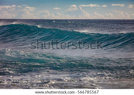 Stock Photo Seascape with waving water