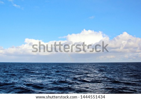 Seascapes. Various kinds of colorful blue sky, sun, clouds and open spaces of the world ocean #1444551434
