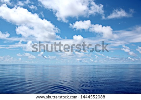 Seascapes. Various kinds of colorful blue sky, sun, clouds and open spaces of the world ocean.