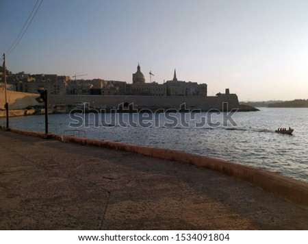 seascapes view of the valletta fortification