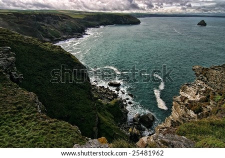 Seashore by Tintagel, Cornwall, England