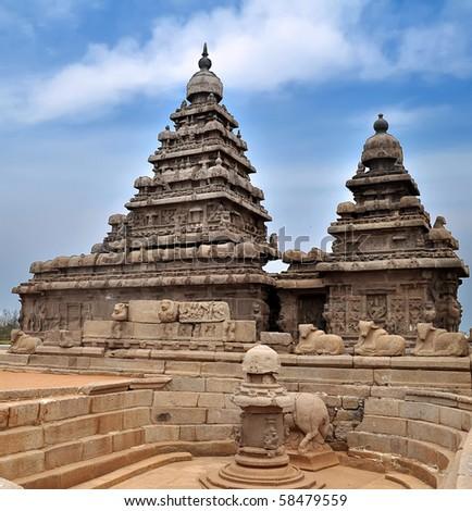 Seashore Temple at Mahabalipuram, India.