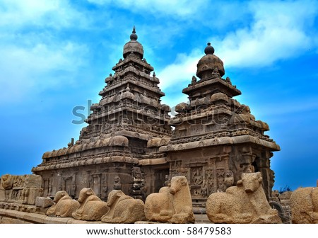 Seashore Temple at Mahabalipuram, India.