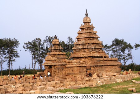 Seashore Temple,UNESCO heritage site,Mamallapuram,India