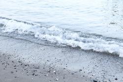 Seashore, wave on the seashore, summer holiday by the sea