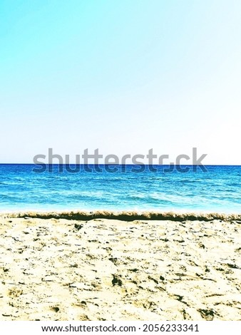 seaside. clear sky. layers of earth. Peace and quiet.  商業照片 ©
