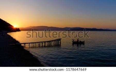 seaside jetty boat  #1178647669