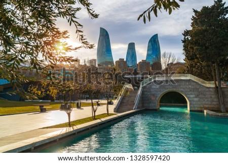 Seaside National Park, Baku city, Azerbaijan