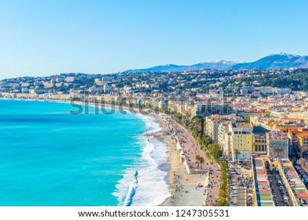 Seaside of Nice, France