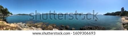 Seaside panoramic photo of Korea
