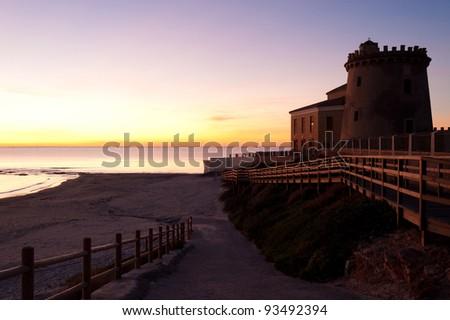 Seaside tower of Pilar de la Horadada, Alicante, Spain