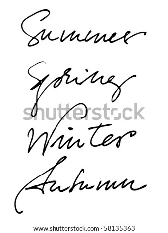 season names with handwriting | for vector version see my gallery