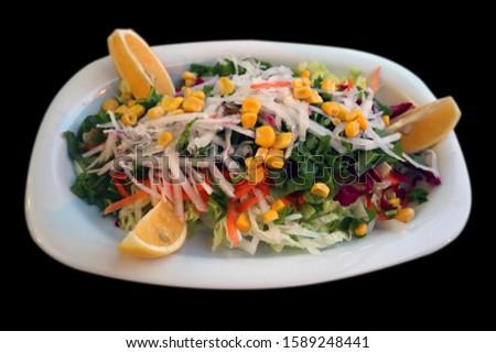 season salad green salata mevsim salata Stok fotoğraf ©