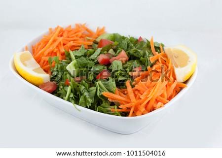 Season Salad White Background Stok fotoğraf ©