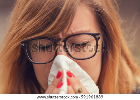 Seasonal allergies and health problems / issues. #591961889